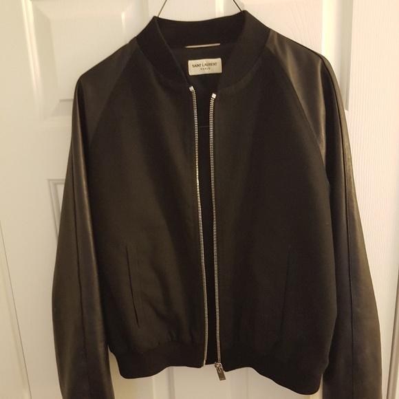 177d9508b Saint Laurent Leather Jacket Bomber